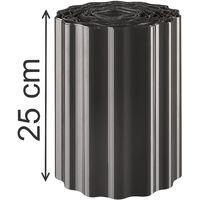 Rasenkante 9mx25cm 0,99€/m Beeteinfassung Beetumrandungen Schwarz Palisade