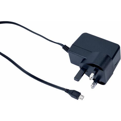 Raspberry Pi T6715DV Power Supply UK Fixed Head Black