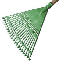 Rastrello da giardino in plastica colore verde - dimensioni 45 cm giardino