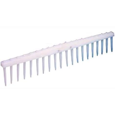 Rastrello In Polipropilene Bianco 20 Denti 63 Cm Senza Manico 1 Pz