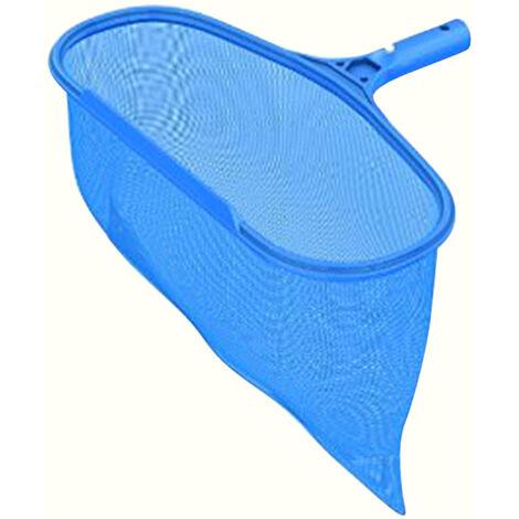 Rastrillo de hojas de piscina Receptor de red de desnatado de hojas con bolsa de desnatado de malla profunda Limpiador de agua para piscina Banera de hidromasaje Fuente de estanque