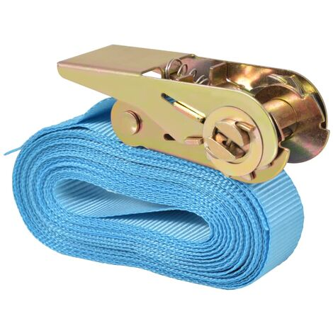 10x Ratchet Heavy Duty Tie Down Straps 0.8 Tonnes 5m x 25mm