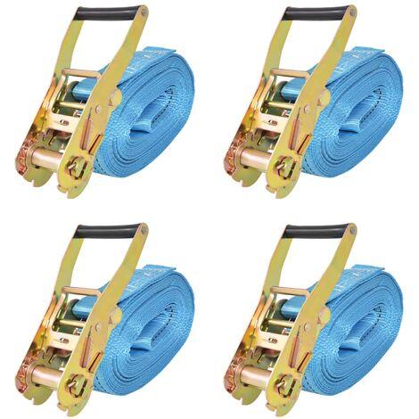 Ratchet Tie Down Straps 4 pcs 4 Tonnes 8mx50mm Blue