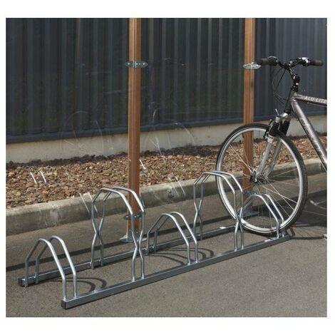 Râtelier 3 vélos sur 2 niveaux Mottez B129V3