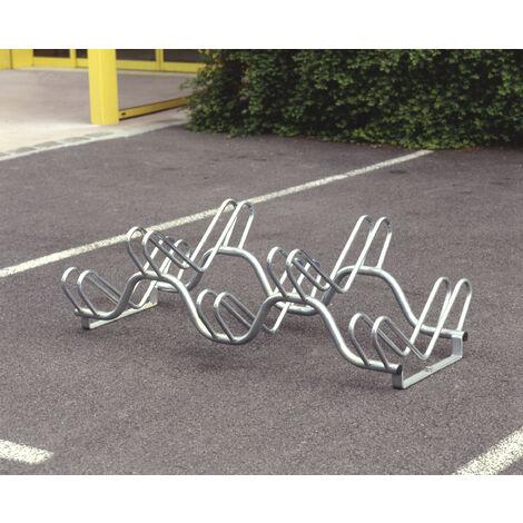 Râtelier 5 vélos sur 2 niveaux Mottez B132V