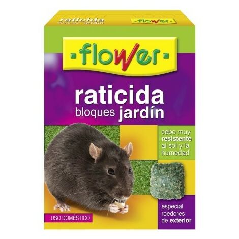 Raticida en bloque flower 20512 200 gr