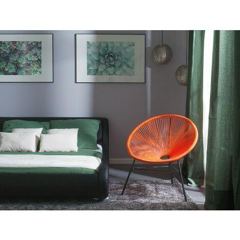 Rattan Accent Chair Orange ACAPULCO
