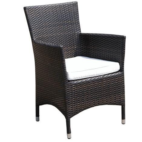 Rattan Dining Chair Brown ITALY