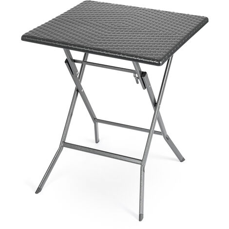 Rattan Effect Folding Bistro Table