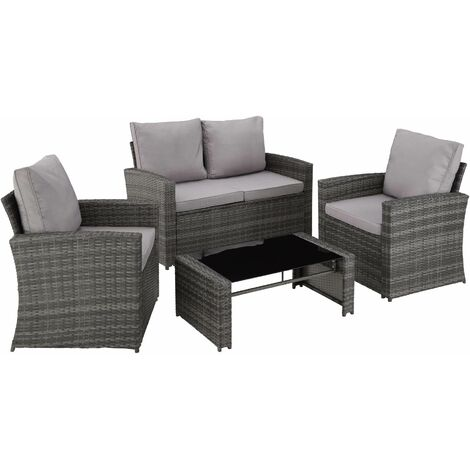 Rattan garden furniture lounge Lucca - garden sofa, rattan sofa, garden sofa set