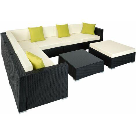 Rattan garden furniture lounge Marbella - garden sofa, garden corner sofa, rattan sofa