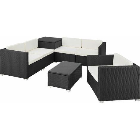 Rattan garden furniture lounge Pisa - garden sofa, garden corner sofa, rattan sofa