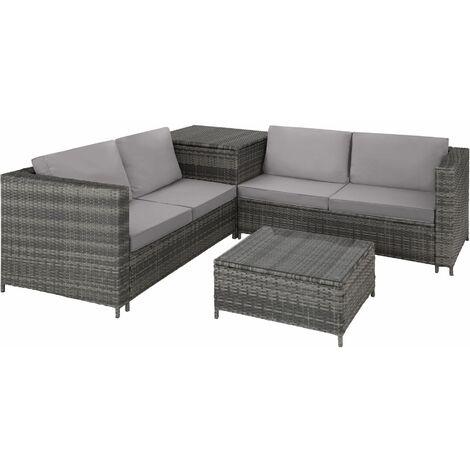 "main image of ""Rattan garden furniture lounge Siena - garden sofa, garden corner sofa, rattan sofa"""