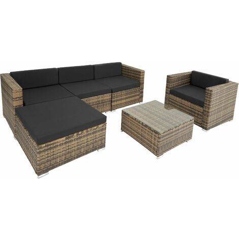 Rattan garden furniture Milano, variant 2 - black - black