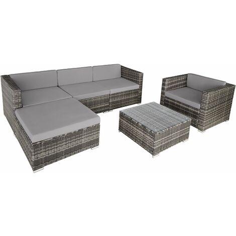Rattan garden furniture Milano, variant 2 - grey - grey