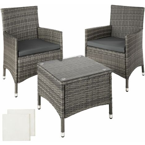Rattan garden furniture set Athens 2 chairs + table - garden tables and chairs, garden furniture set, outdoor table and chairs