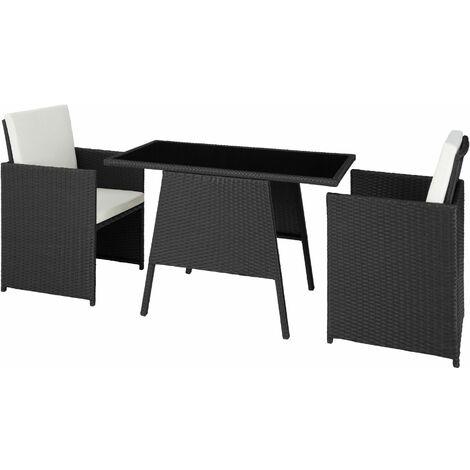 690aa72a5e16 Rattan garden furniture set Lausanne black - 403096