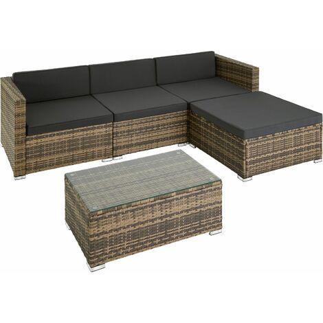 Rattan garden furniture set lounge Florence, variant 2 - garden sofa, garden corner sofa, rattan sofa