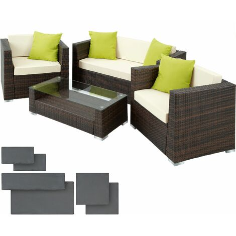 Rattan garden furniture set Munich - garden sofa, rattan sofa, garden sofa set