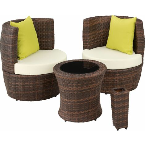 Rattan garden furniture set Nizza - garden tables and chairs, garden furniture set, outdoor table and chairs