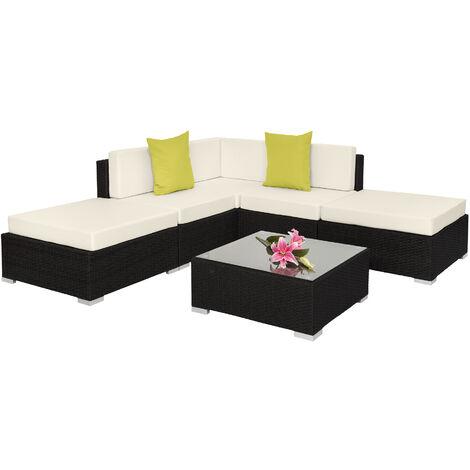 "main image of ""Rattan garden furniture set Paris, variant 2 - garden sofa, garden corner sofa, rattan sofa"""