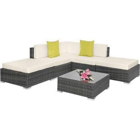 Rattan garden furniture set Paris, variant 2 - garden sofa, garden corner sofa, rattan sofa