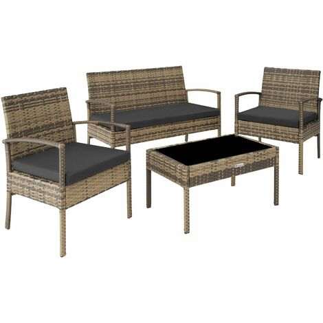 """main image of """"Rattan garden furniture set Sparta 3+1 - garden tables and chairs, garden furniture set, outdoor table and chairs"""""""