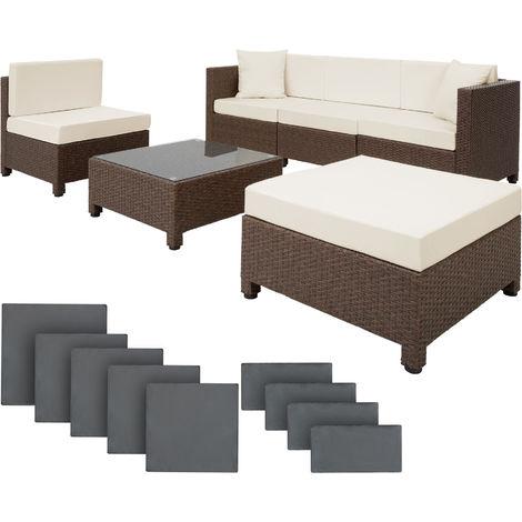 Rattan garden furniture set with aluminium frame - garden sofa, rattan sofa, garden sofa set