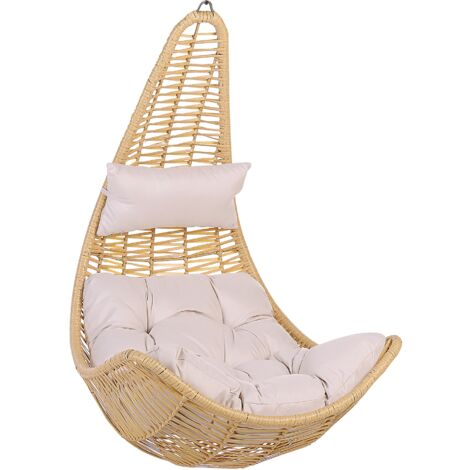 Rattan Hanging Chair Beige ATRI II