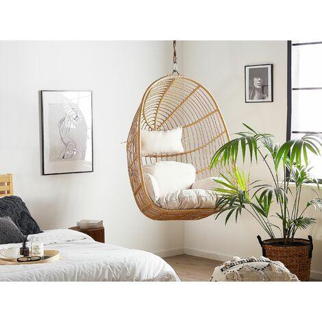 Rattan Hanging Chair Beige CASOLI
