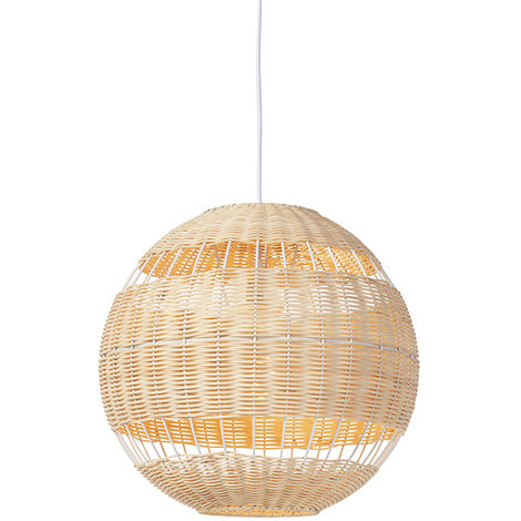 Rattan hanging lamp rural - Rattan