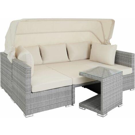 Rattan Lounge mit Aluminiumgestell San Marino - Gartenlounge, Terrassenmöbel, Rattan Lounge