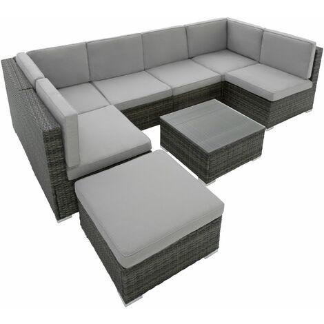 Rattan Lounge Mit Stahlgestell Venedig 402698