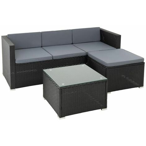 Rattan Lounge Rattanmöbel Sitzgruppe Gartenmöbel Set Sofa ...