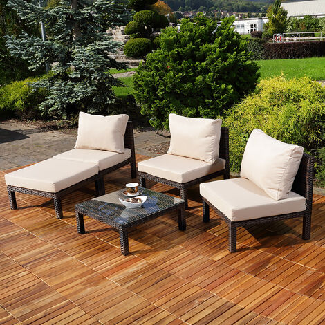 rattan sitzgruppe garten liege sessel stuhl garten lounge. Black Bedroom Furniture Sets. Home Design Ideas
