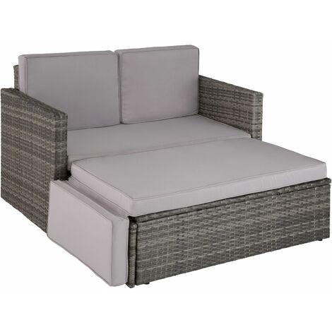 Rattan sofa Corfu - garden sofa, outdoor sofa, garden sofa set - grey