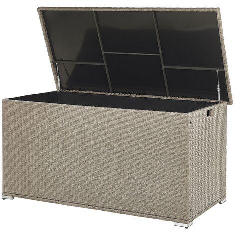Rattan Storage Box 155 x 75 cm Beige MODENA