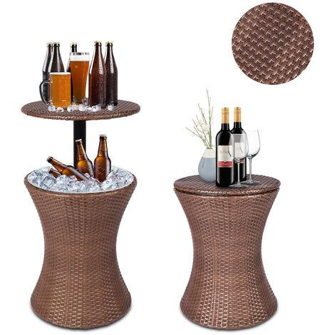 Rattan Style Cooler Buckets Bar Table