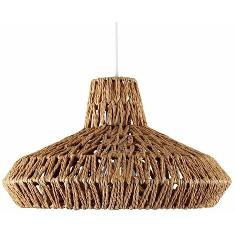 """main image of """"Rattan Wicker Ceiling Light Shade Pendant - Natural"""""""