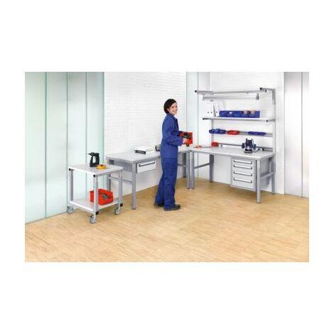 RAU Arbeitsplatz-System, höhenverstellbar von 650 – 1000 mm - Grundtisch mit