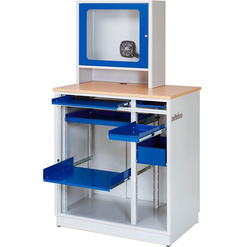 RAU Armoire pour ordinateur - type W060/3 - h x l x p 1820 x 1030 x 660 mm - Coloris corps: gris clair RAL 7035