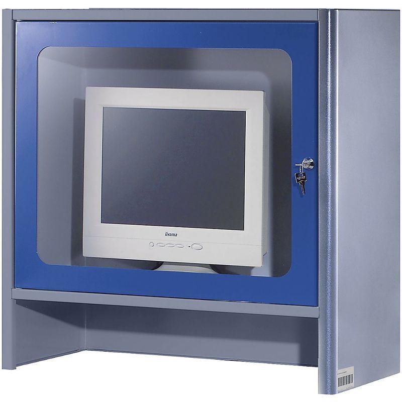 RAU Compartiment pour écran à ventilateur intégré - h x l x p 710 x 710 x 300 mm - anthracite métallisé / bleu gentiane - Coloris corps: anthracite