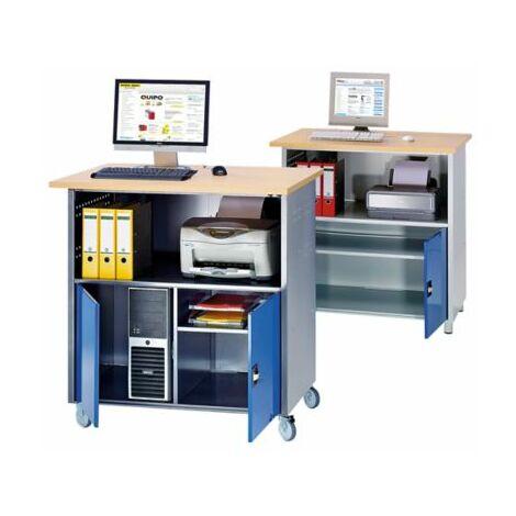 RAU PC-Tisch - mit durchgehendem Fachboden
