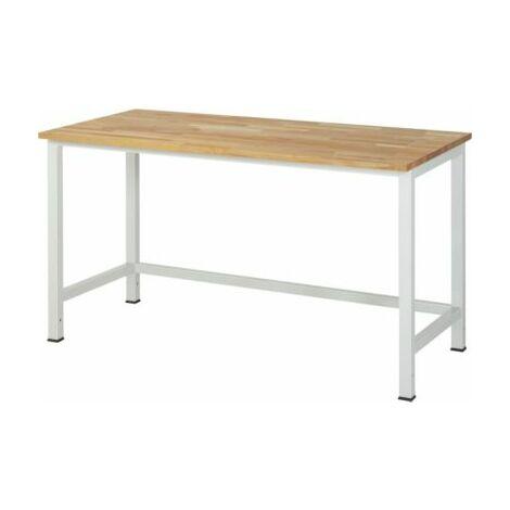 RAU Werktisch, höhenverstellbar - Buche-Platte, Breite 1500 mm