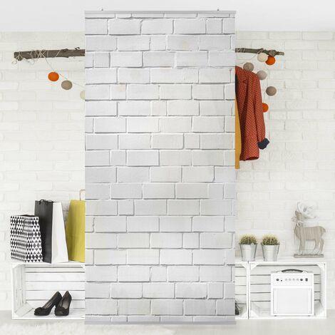 Raumteiler - White Stonewall 250x120cm Aufhängung: inkl. transparenter Halterung