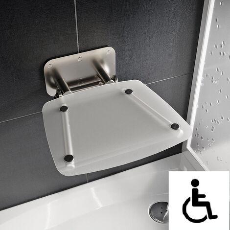 Ravak Ovo-B II-Clear siège de douche rabattable PMR pour cabine de douche (B8F0000051)