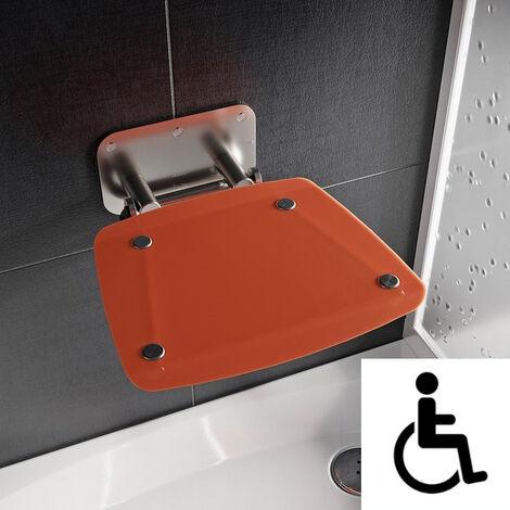 Ravak Ovo-B II-Orange siège de douche rabattable PMR pour cabine de douche (B8F0000053)