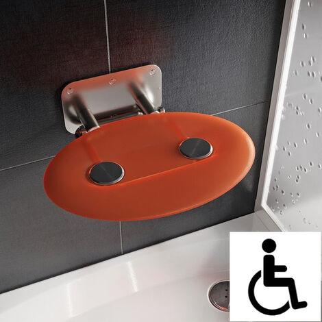 Ravak Ovo-P II-Orange siège de douche rabattable PMR pour cabine de douche (B8F0000050)