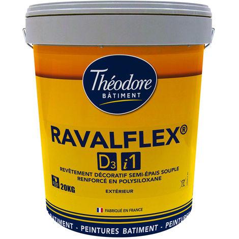 Ravalflex D3/i1 (20kg) : Peinture ravalement - Revêtement de protection semi-épais souple pour façade