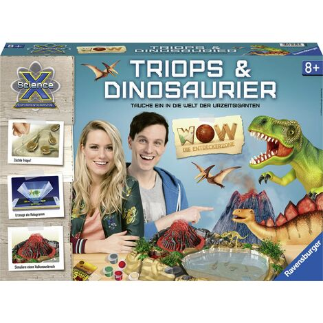 Ravensburger ScienceX WOW Triops & Dinosaurier 18906 X865391